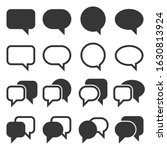 chat and speech bubble iicons...