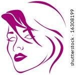woman face silhouette | Shutterstock .eps vector #16308199