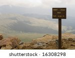 This is the top of Mount Evans Road in Colorado, one of the highest road in the USA - stock photo