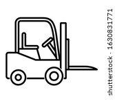 forklift icon design. forklift... | Shutterstock .eps vector #1630831771
