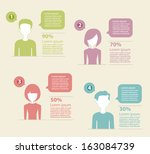 people icons infographic concept | Shutterstock .eps vector #163084739
