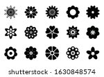 isolated flowers black and... | Shutterstock .eps vector #1630848574