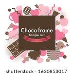 valentine's day collage frame...   Shutterstock .eps vector #1630853017