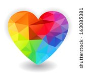 Rainbow Heart  Isolated On...