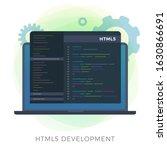 html5 development flat vector...   Shutterstock .eps vector #1630866691
