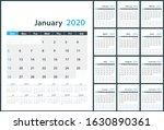2020 wall calendar all month....   Shutterstock .eps vector #1630890361