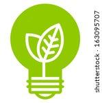 Green Ecology Light Bulb Vecto...