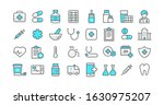 set vector line icons  sign and ... | Shutterstock .eps vector #1630975207