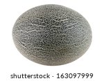cantaloupe melon isolated on... | Shutterstock . vector #163097999