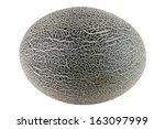cantaloupe melon isolated on... | Shutterstock . vector #163097999