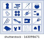 sewing tools for tailoring ... | Shutterstock .eps vector #163098671