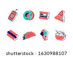 set of colorful cartoon fast... | Shutterstock .eps vector #1630988107