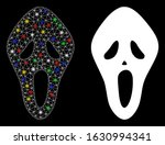 flare mesh scary mask icon with ... | Shutterstock .eps vector #1630994341