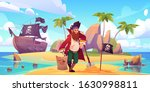 Pirate Buried Treasure Chest On ...