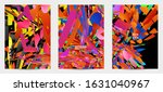abstract flyer template with...   Shutterstock .eps vector #1631040967