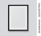 realistic black photo frame... | Shutterstock .eps vector #1631047441
