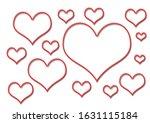heart. valentine's day.... | Shutterstock . vector #1631115184