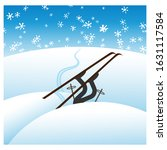 winter unsuccessful skiing.... | Shutterstock .eps vector #1631117584