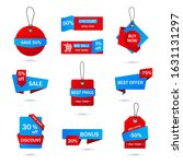 vector stickers  price tag ... | Shutterstock .eps vector #1631131297