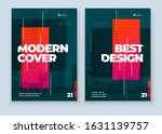 dark brochure design. a4 cover... | Shutterstock .eps vector #1631139757
