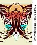 tiger. fashion illustration | Shutterstock .eps vector #163115471