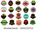 banners and labels for retail... | Shutterstock .eps vector #163115711