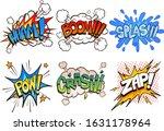 comic book retro sound effects. ... | Shutterstock .eps vector #1631178964