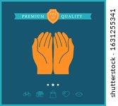 open hands icon. graphic... | Shutterstock .eps vector #1631255341