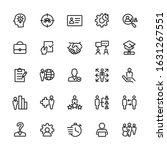 icons set of head hunting ... | Shutterstock .eps vector #1631267551