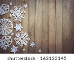 christmas background with... | Shutterstock . vector #163132145