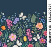 Seamless Border With Spring An...