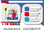 man video blogger. blogger in... | Shutterstock .eps vector #1631382574