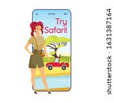 try safari cartoon smartphone...