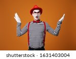 Surprised Mime In Red Hat And...
