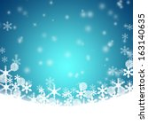 christmas blue background | Shutterstock . vector #163140635