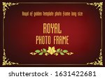 gold border frame with corner... | Shutterstock .eps vector #1631422681