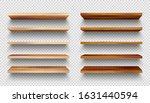 realistic empty wooden store... | Shutterstock .eps vector #1631440594