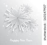 abstract starry fireworks.... | Shutterstock .eps vector #163147937