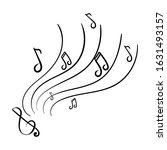 music  notes  treble clef.... | Shutterstock .eps vector #1631493157