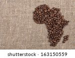 roasted coffe beans shaping... | Shutterstock . vector #163150559