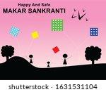 Makar Sankranti Card With Kite...