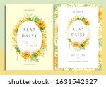 Sunflowers Watercolor Wedding...