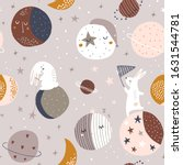 seamless childish pattern with... | Shutterstock .eps vector #1631544781