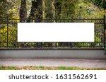 Blank White Banner For...