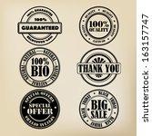 stamp set   Shutterstock .eps vector #163157747