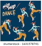 vector set with a dancing...   Shutterstock .eps vector #1631578741