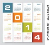 Simple Editable Vector Calenda...