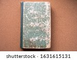 Small photo of an old book with traces of aging, decrepitude. bookkeeping.