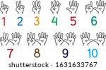 hands with fingers icon set for ... | Shutterstock .eps vector #1631633767