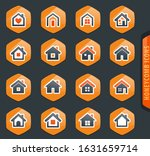 houses icon set for web sites... | Shutterstock .eps vector #1631659714